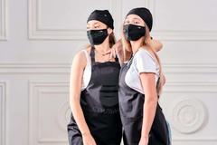 Защитная угольная маска c фильтром FSK (черная)