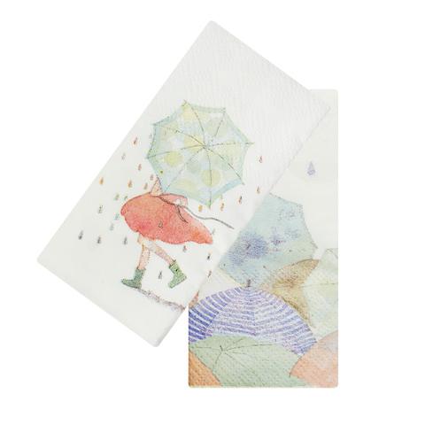 Платочки бумажные Umbrella Green