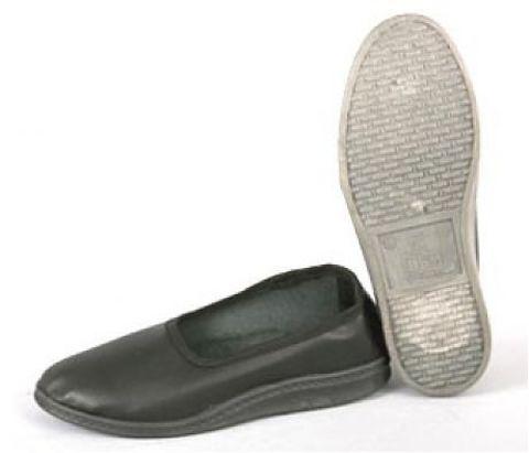 Тапочки закрытые черные (искусственная кожа, ПВХ) мужские