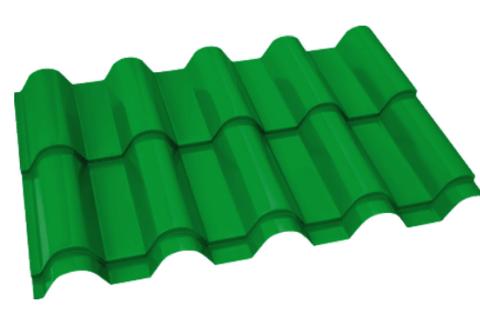 Металлочерепица Банга Полиэстер RAL 6029 Зеленая мята 0,45 мм