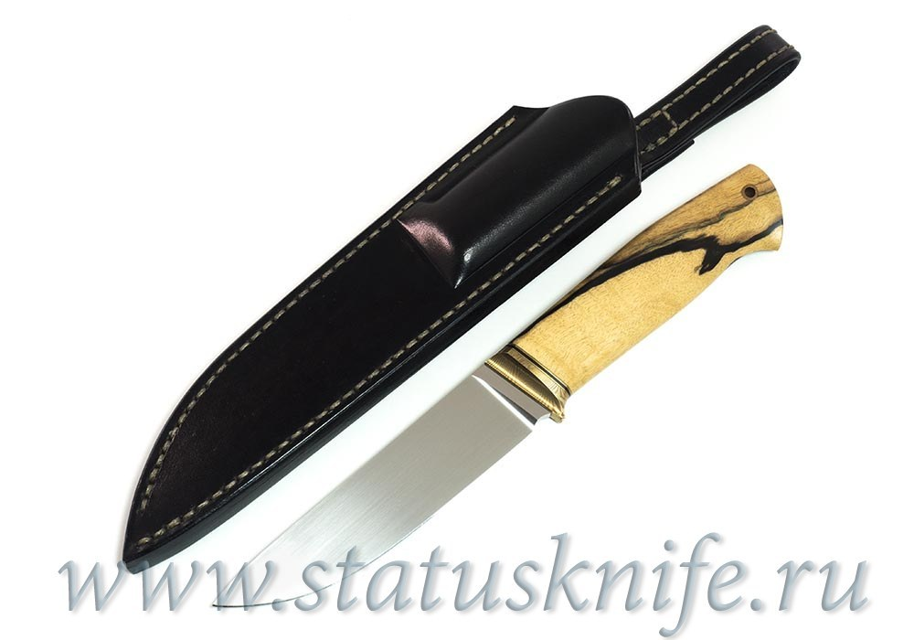 Нож авторский S125VN Мокуме Лунный Эбен