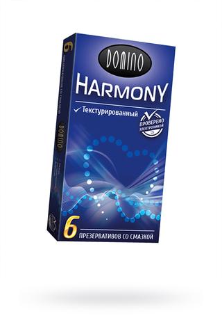 Презервативы Luxe DOMINO HARMONY Текстурированный 6 шт. в упаковке