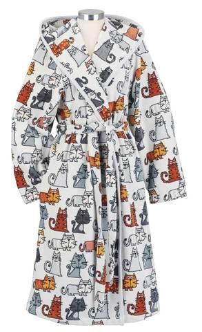 Элитный халат шенилловый Cats Pauline от Feiler