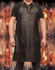 Мужской брутальный кожаный фартук СТАНДАРТ