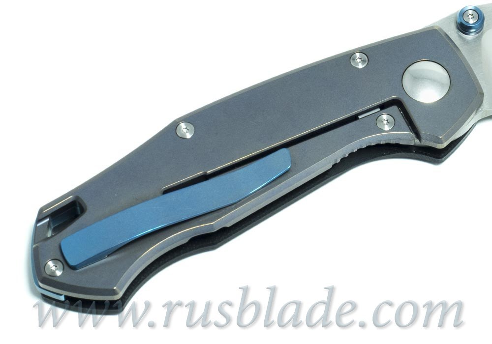 CKF MKAD Blue Farko knife (M390, Ti, bearings)