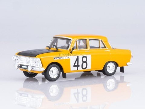 IZH-412 rally yellow-black 1:43 DeAgostini Auto Legends USSR Sport #6