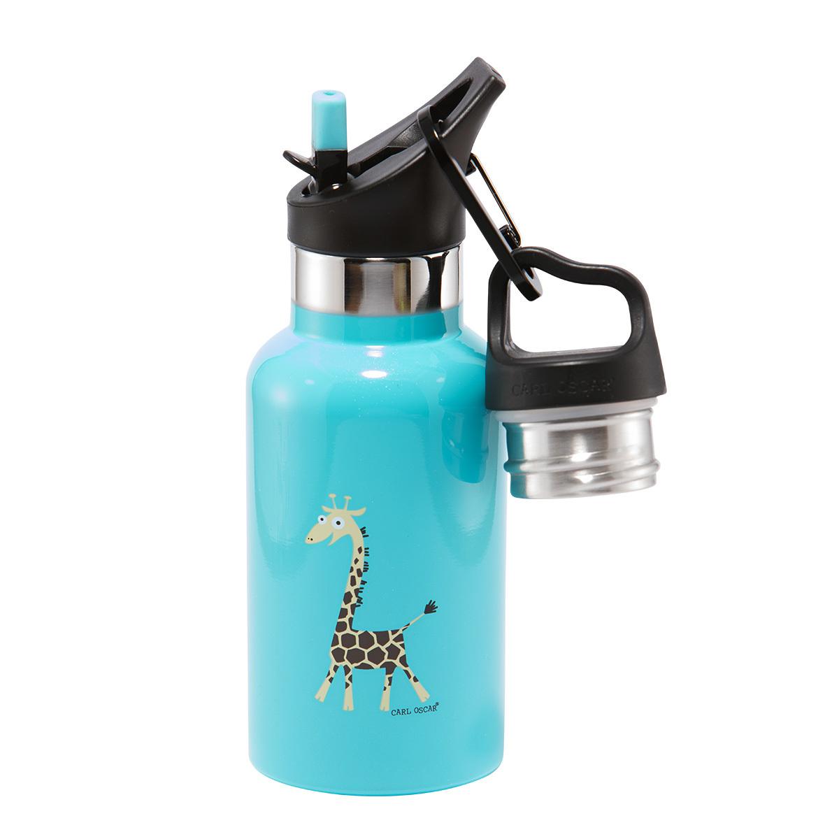 Детская термос-фляга TEMPflask™ Giraffe 0.35л бирюзовая от 3 500 руб