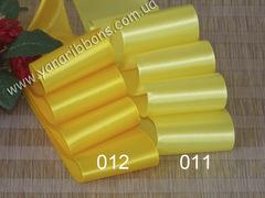 Лента атласная шириной 5см желтая - 011
