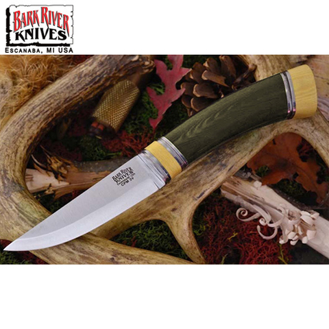 Нож Bark River Scandi модель Green Linen Micarta Ivory Spacer