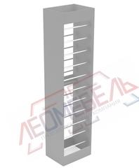 ОСТ2-530 Стеллаж обойный прямолинейный двухсторонний  2400х590х450 мм