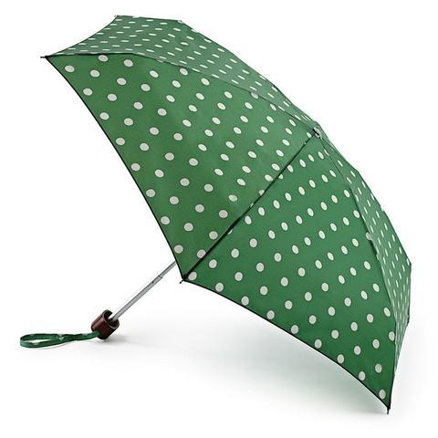 Fulton SpotGreen (Горошек) женский зонт механический
