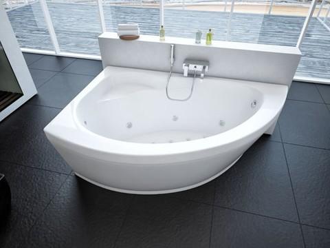 Ванна акриловая асимметричная АЯКС 2 170х110 AQUATEK (с каркасом и фронтальной панелью)