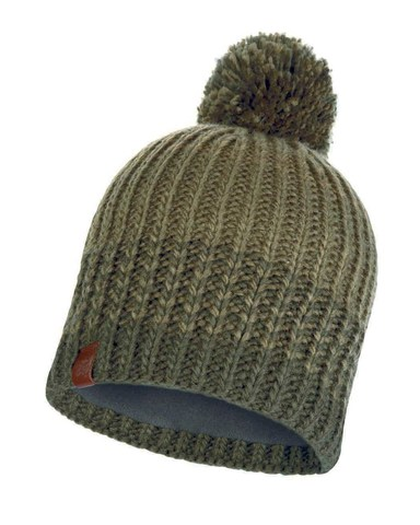 Вязаная шапка с флисовой подкладкой Buff Hat Knitted Polar Borae Khaki