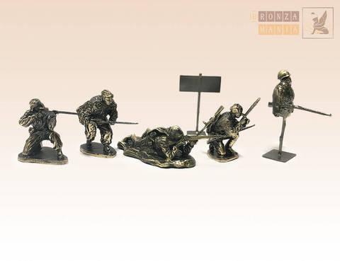 набор солдатиков Советские снайперы 5 шт.
