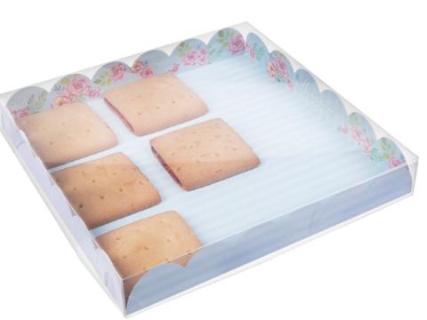 060-0100 Коробка для кондитерских изделий с PVC крышкой «Моменты счастья», 21 × 21 × 3 см