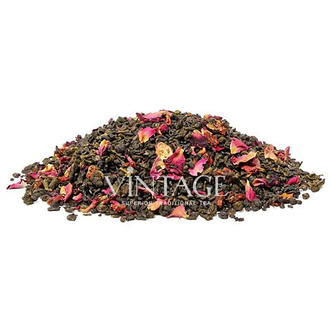 Клубника со сливками зеленый (чай зеленый байховый ароматизированный листовой)