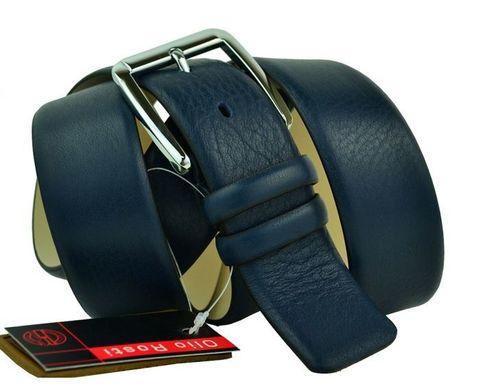 Ремень мужской джинсовый синий из кожи оленя Olio Rosti 40Ol.Rosti-B-016
