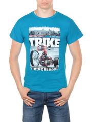 11113-5 футболка мужская, синяя