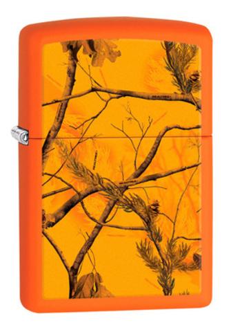 Зажигалка Zippo Realtree AP™ Blaze с покрытием Orange Matte, латунь/сталь, оранжевая, 36x12x56 мм