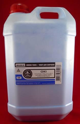 Тонер TOMOEGAWA голубой для OKI универсальный 1 кг.