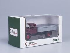 GAZ-3307 wooden board engine ZMZ-513 Exhibition dark red AutoHistory 1:43