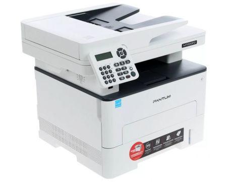 МФУ Pantum M7200FD - лазерное, монохромное, А4, копир/принтер/сканер/факс, 33 стр/мин, 1200 X 1200 dpi, 256Мб RAM, лоток 250 стр, PCL/PS, USB, дуплекс, черный корпус, с автоподатчиком