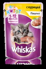 Whiskas для котят паштет с курицей 85 гр