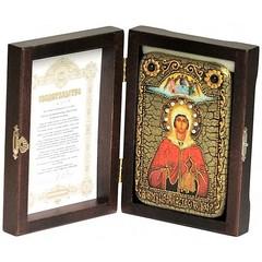 Инкрустированная Икона Святая великомученица Анастасия Узорешительница 15х10см на натуральном дереве, в подарочной коробке