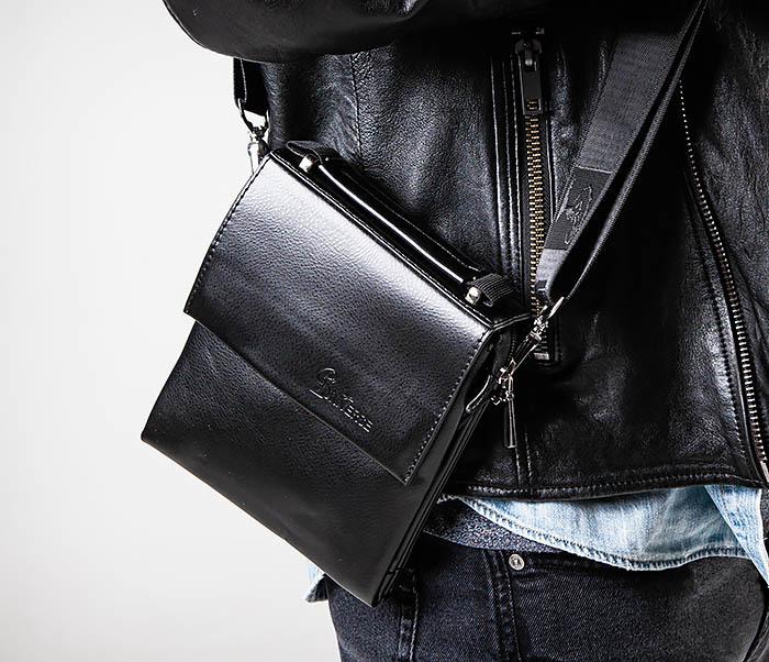 BAG560-1-1 Маленькая сумка планшет с ручкой и ремнем