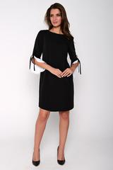 Строгое платье, скрывает в себе особый шарм. Контрастная игра цвета придает роскошь изделию. (Длина по спинке: 46= 97см:  48= 99см; 50= 100см; 52= 101см)