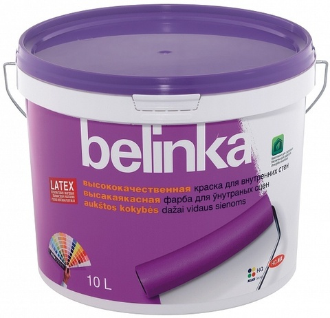 Belinka Latex Интерьерная краска для стен и потолков, база B3