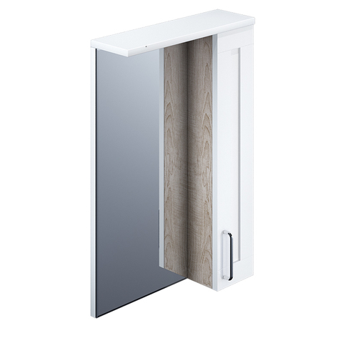 Шкаф-зеркало, 50 см, Sena, IDDIS, SEN5000i99
