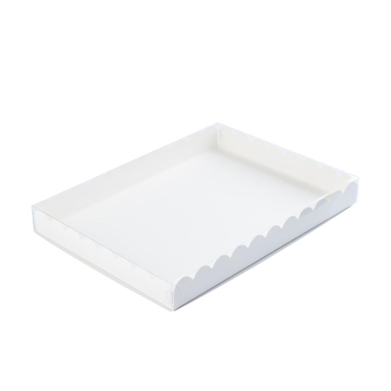 Коробка с прозрачной крышкой для печенья и пряников,22*15*3 см