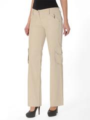 2435-2 брюки женские, бежевые