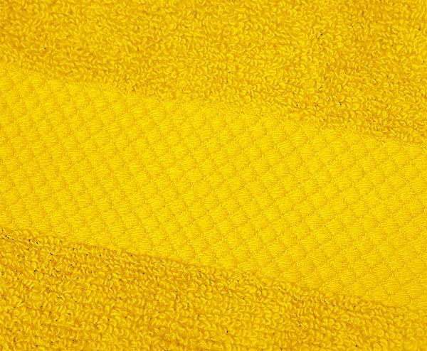 Полотенце 90х180 Mirabello Microcotton желтое