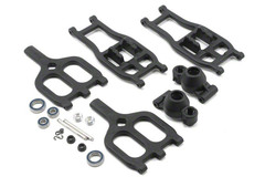 True-Track Rear A-Arm Conversion,Black:TMX 3.3/EMX