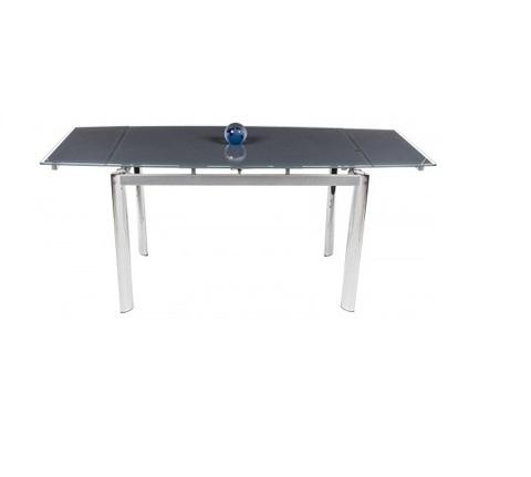 Стол обеденный S-300T раскладной стеклянный прямоугольный серый