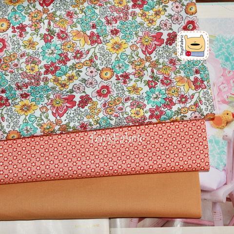 Набор тканей для пэчворка 51770 Выразительные цветы (45х35см/3шт.)