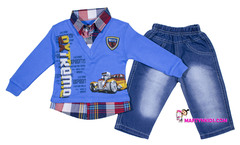 415 костюм толстовка-рубашка