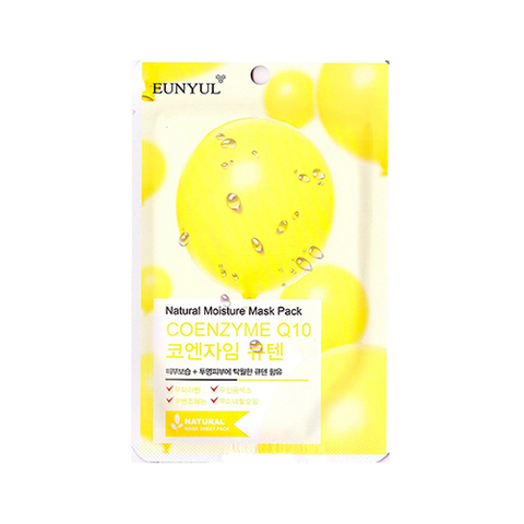 Eunyul Маска с коэнзимом Q10 Natural Moisture Mask Pack Coenzyme 5шт