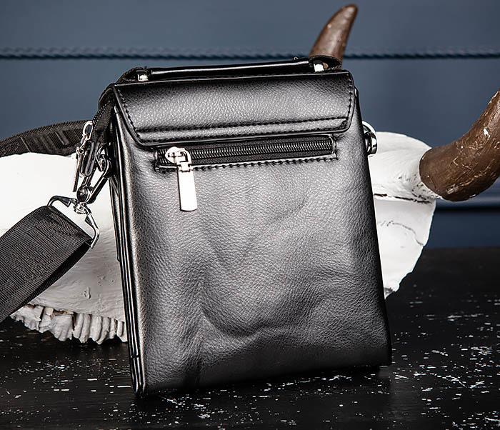 BAG560-1-1 Маленькая сумка планшет с ручкой и ремнем фото 04