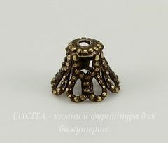 Винтажный декоративный элемент - шапочка филигранная