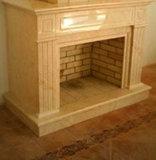 Арт 028 Каминный портал из натурального мрамора Крема Нова