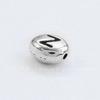 """Бусина овальная TierraCast """"Буква Z"""" 7х6х3 мм(цвет-античное серебро)"""