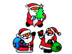 336-306 Наклейка ПВХ, 13х18 Дед Мороз
