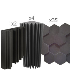 акустический поролон набор для помещения 15 м2 ОПТИМА