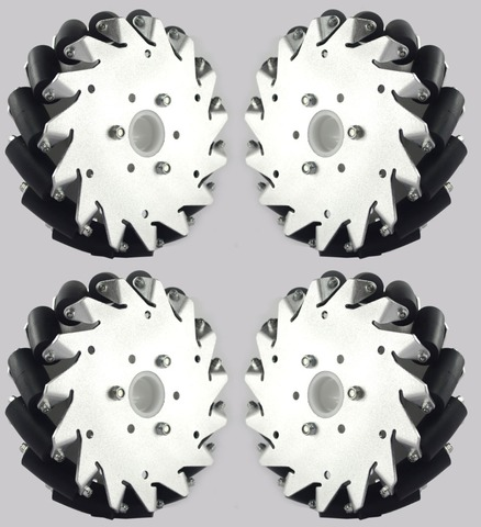 Набор из 4х алюминиевых колес Mecanum, 152 мм