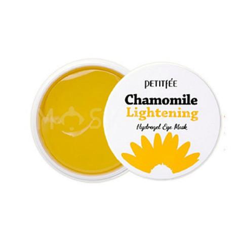 Гидрогелевые Патчи с Экстрактом Ромашки PETITFEE Chamomile Lightening Hydrogel Eye Patch