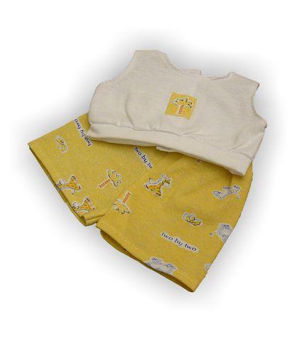 Летний костюмчик - Желтый. Одежда для кукол, пупсов и мягких игрушек.