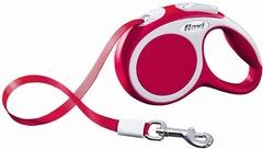 Поводок-рулетка Flexi VARIO XS (до 12 кг) 3 м лента красная